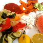 FischohneEndeund Ofengemüse
