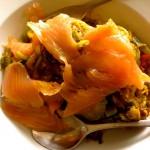 Zucchininudeln mit Lachs