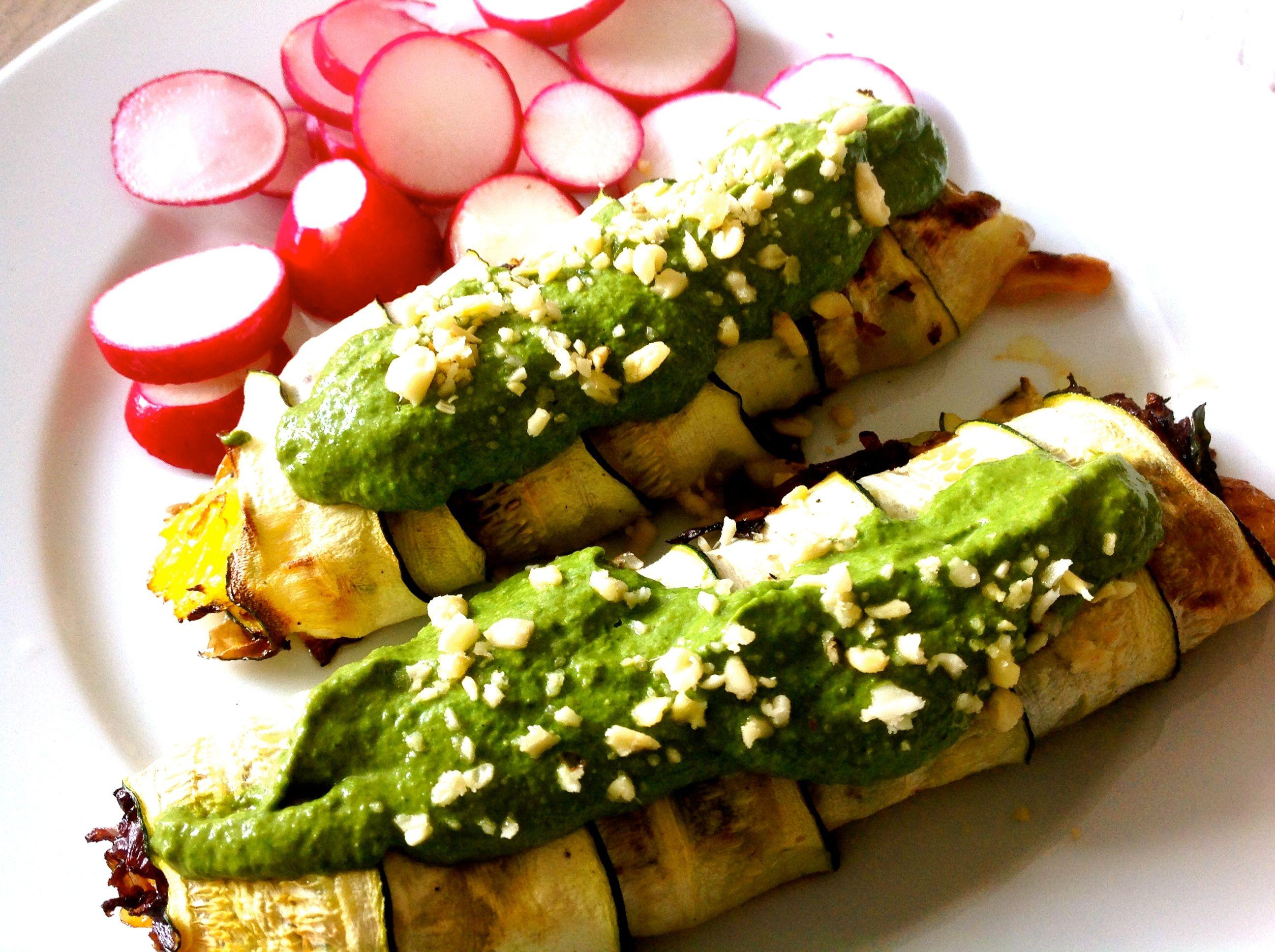 Zucchiniröllchen mit Lachs 5